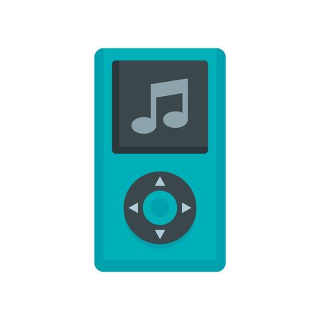 Portable music player icon, flat style  イラスト・ベクター素材