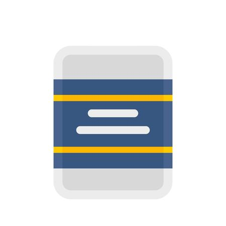 Bike pack tools icon, flat style