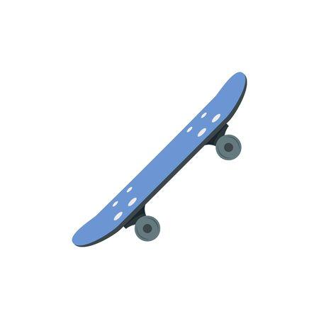 Side of skateboard icon, flat style