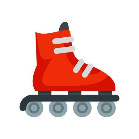 Inline skates icon, flat style Ilustração