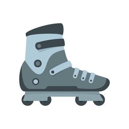 Extreme sport inline skates icon, flat style  イラスト・ベクター素材