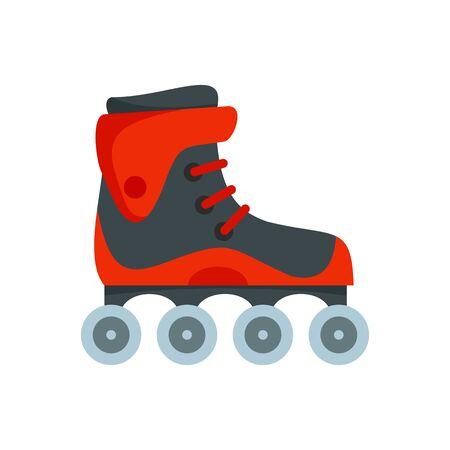 Freestyle inline skates icon, flat style  イラスト・ベクター素材