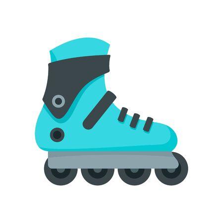 Pro inlane skates icon, flat style