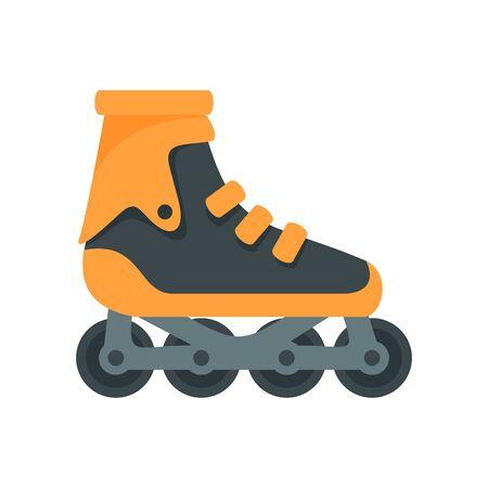 Modern inline skates icon, flat style
