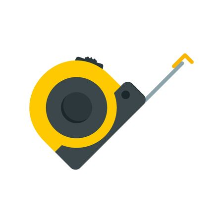 Tape measure icon, flat style