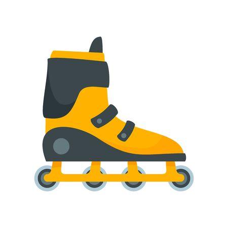 Extreme inline skates icon, flat style
