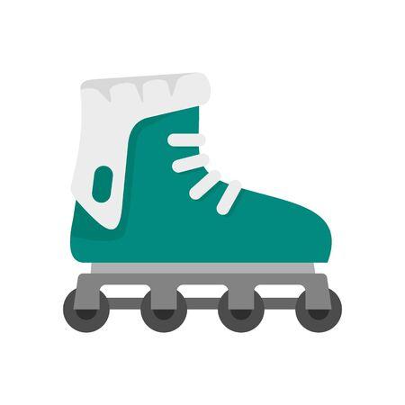 Glide inline skates icon, flat style