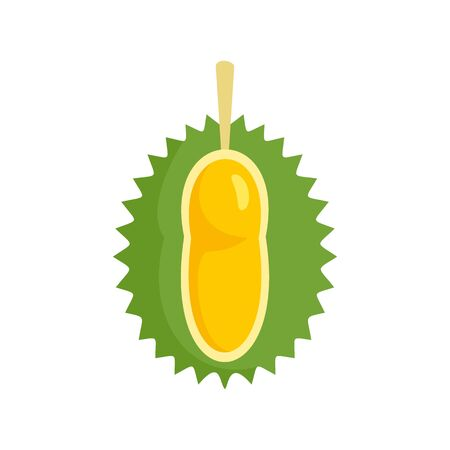 Small durian fruit icon, flat style
