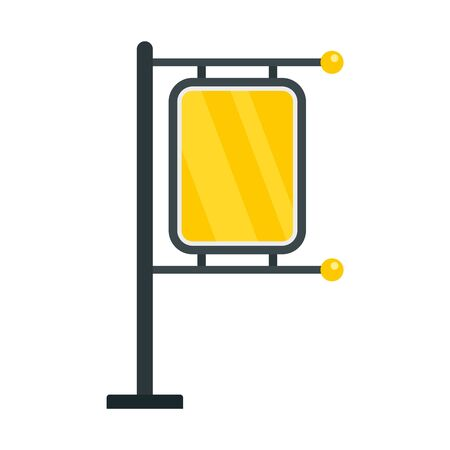 Pillar city light icon, flat style