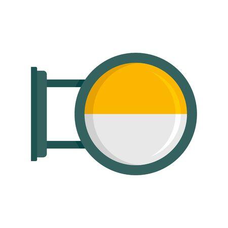 Round city light box icon, flat style 일러스트