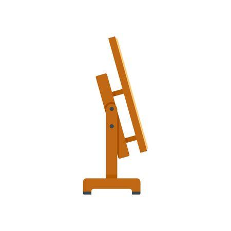Architect wood stand icon, flat style Çizim