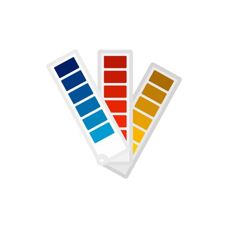Paper pantone color chart icon, flat style