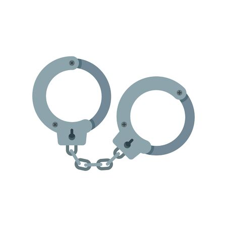 Handcuffs icon, flat style