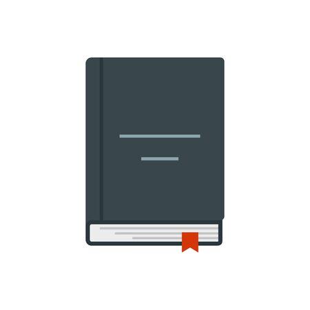 Crime book icon. Flat illustration of cryme book vector icon for web design Ilustrace