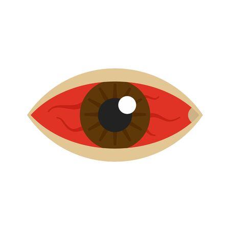 Red eye zika virus icon. Flat illustration of red eye zika virus vector icon for web design