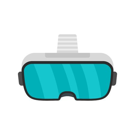 Glass game goggles icon. Flat illustration of glass game goggles vector icon for web design