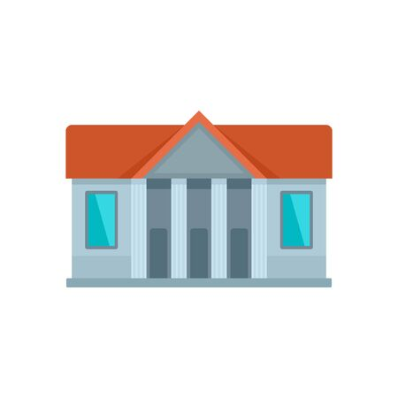 Window courthouse icon. Flat illustration of window courthouse vector icon for web design