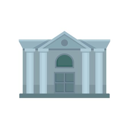 Architecture courthouse icon. Flat illustration of architecture courthouse vector icon for web design