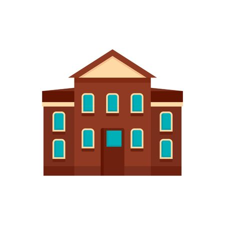 Street courthouse icon. Flat illustration of street courthouse vector icon for web design Иллюстрация