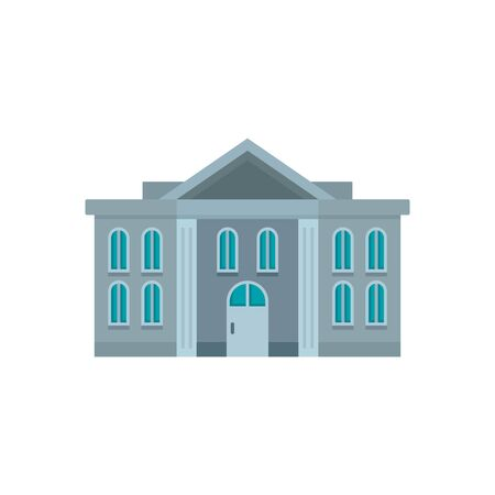 Administrative courthouse icon. Flat illustration of administrative courthouse vector icon for web design Banque d'images - 131327743