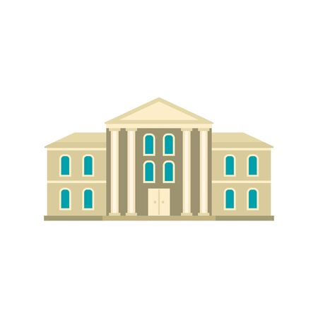 Supreme courthouse icon. Flat illustration of supreme courthouse vector icon for web design Banque d'images - 131327748