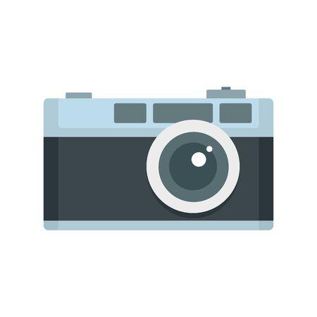 Retro camera icon. Flat illustration of retro camera vector icon for web design