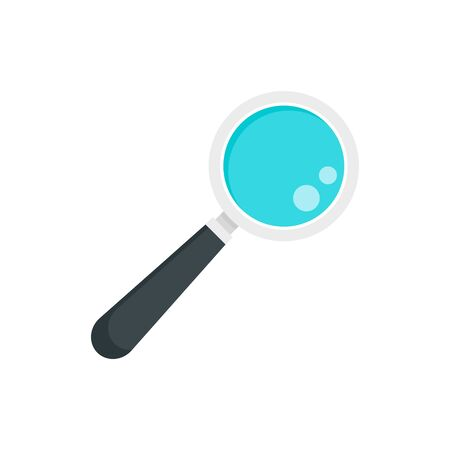 Lab magnify glass icon. Flat illustration of lab magnify glass vector icon for web design Иллюстрация