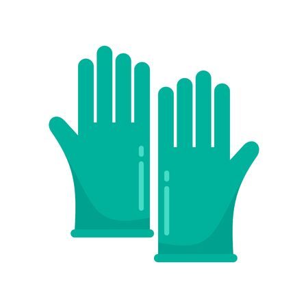 Forensic lab gloves icon. Flat illustration of forensic lab gloves vector icon for web design Иллюстрация