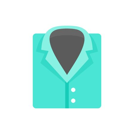 Forensic laboratory shirt icon. Flat illustration of forensic laboratory shirt vector icon for web design Vectores