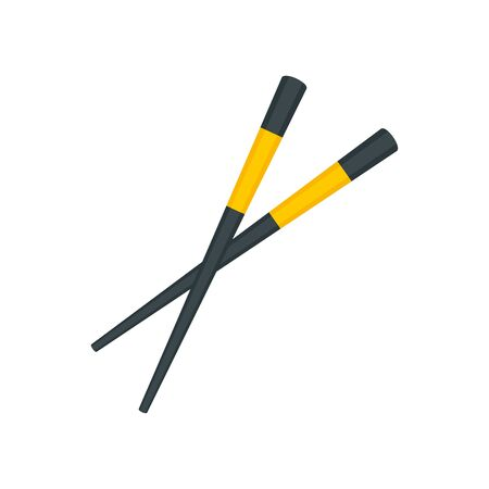 Sushi chopsticks icon. Flat illustration of sushi chopsticks vector icon for web design