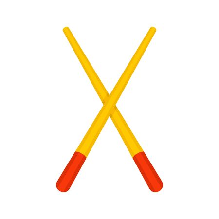 Wood chopsticks icon. Flat illustration of wood chopsticks vector icon for web design 일러스트
