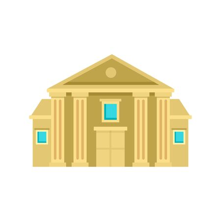 Column courthouse icon. Flat illustration of column courthouse vector icon for web design