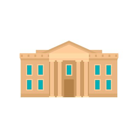 Museum courthouse icon. Flat illustration of museum courthouse vector icon for web design