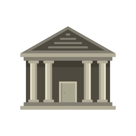 Stone courthouse icon. Flat illustration of stone courthouse vector icon for web design
