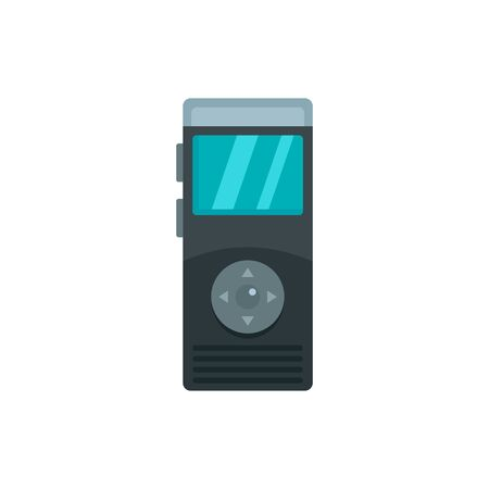 Dictaphone icon. Flat illustration of dictaphone vector icon for web design