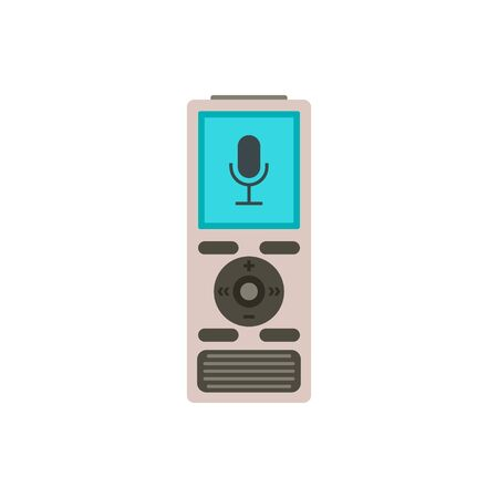 Digital dictaphone icon. Flat illustration of digital dictaphone vector icon for web design