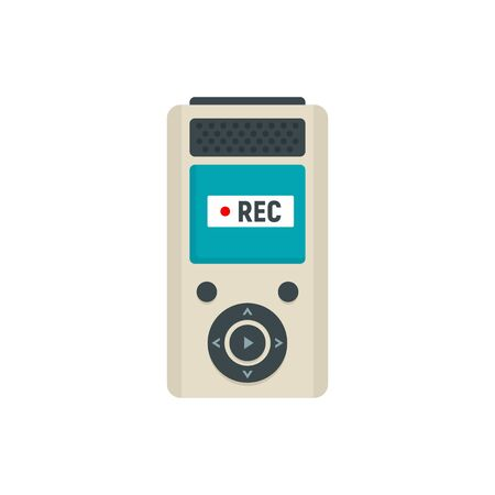 Modern dictaphone icon. Flat illustration of modern dictaphone vector icon for web design Stock Illustratie