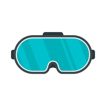 Game goggles icon. Flat illustration of game goggles vector icon for web design Çizim