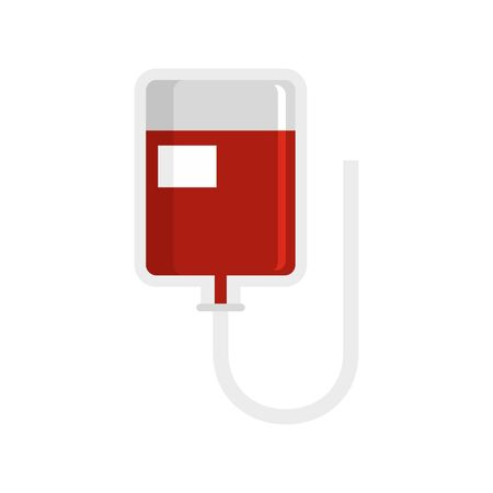 Blood package icon. Flat illustration of blood package vector icon for web design