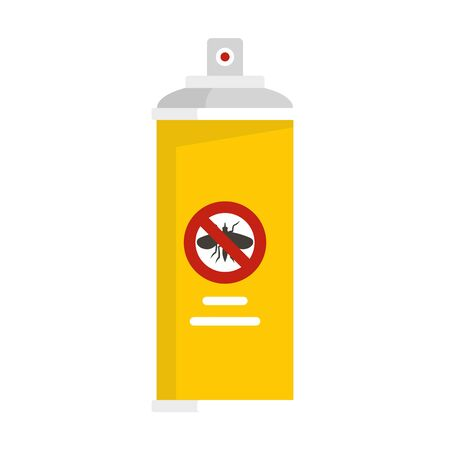 Anti insects spray icon. Flat illustration of anti insects spray vector icon for web design Çizim