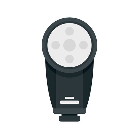Camera led flash icon. Flat illustration of camera led flash vector icon for web design
