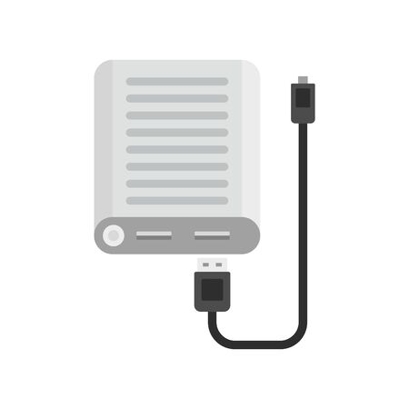 Power bank icon. Flat illustration of power bank vector icon for web design 向量圖像