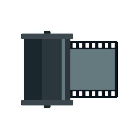 Retro camera film icon. Flat illustration of retro camera film vector icon for web design