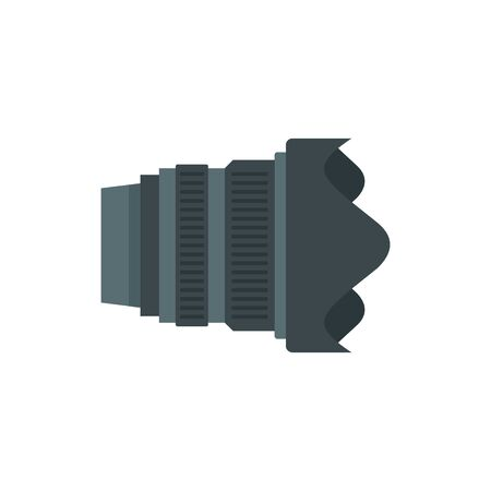 Modern camera lens icon. Flat illustration of modern camera lens vector icon for web design Ilustração