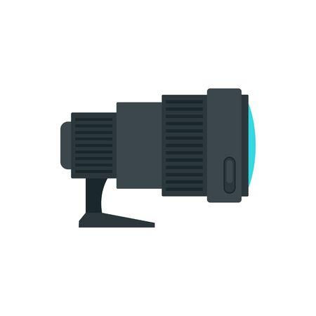 Sport camera lens icon, flat style