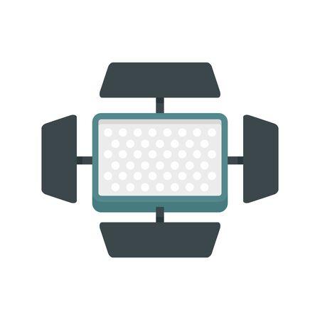 Video camera flash icon, flat style