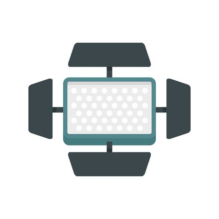 Video camera flash icon, flat style