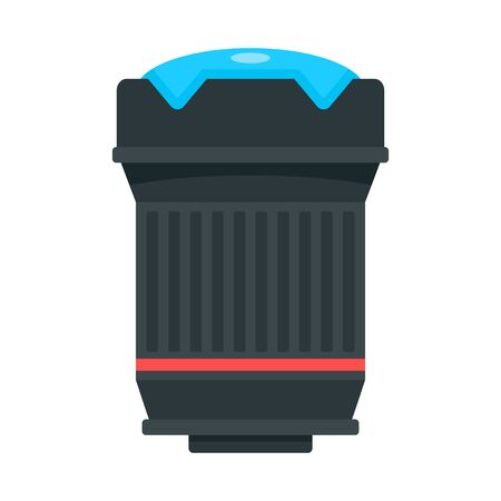 Lens red ring icon, flat style  イラスト・ベクター素材