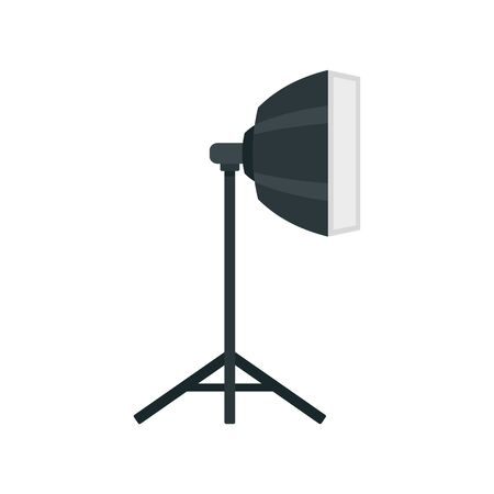 Studio light stand icon, flat style Ilustração