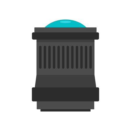 Lens icon, flat style